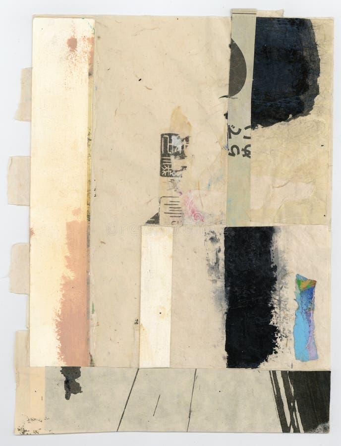 Wabi萨比纹理摘要绘的拼贴画艺术 图库摄影
