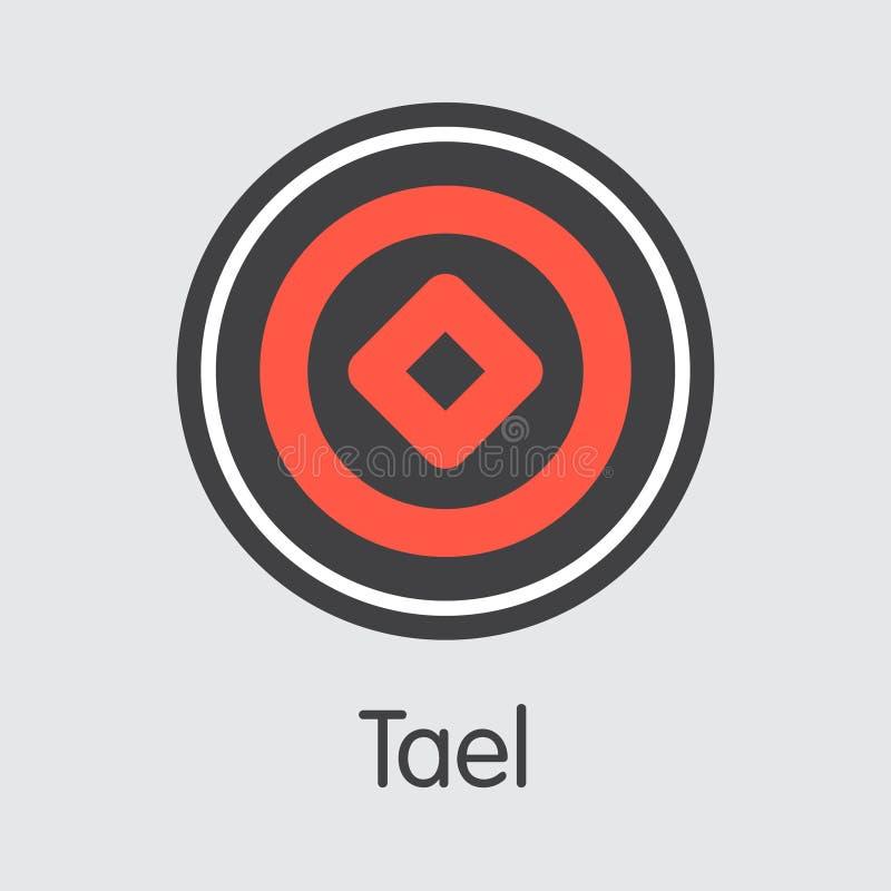 WABI - Tael El logotipo del emblema Crypto de la moneda o del mercado stock de ilustración