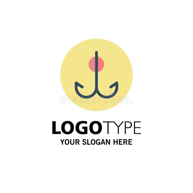 Wabije, Łowiący, haczyk, sporta logo Biznesowy szablon p?aski kolor royalty ilustracja