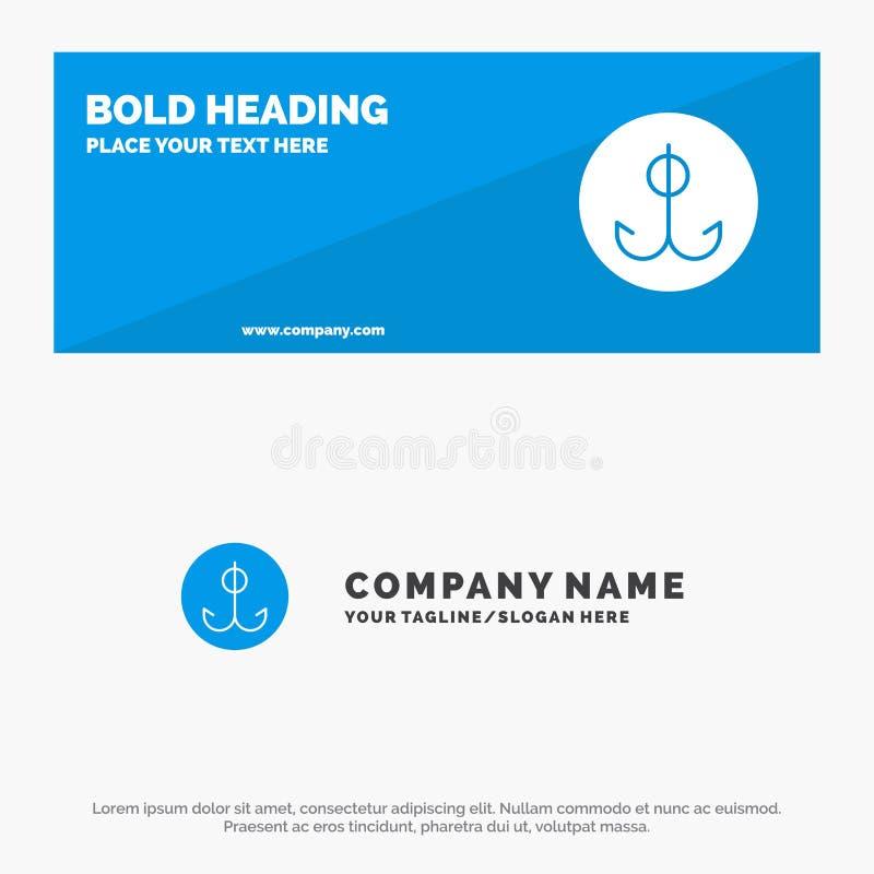 Wabije, Łowić, haczyk, sport ikony strony internetowej stały sztandar i biznesu logo szablon, royalty ilustracja