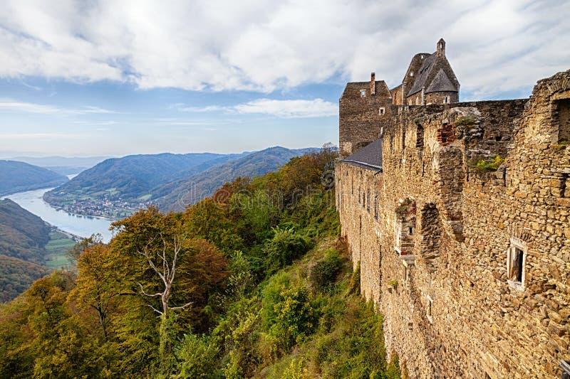 Wachau-Tal am Herbst lizenzfreies stockbild