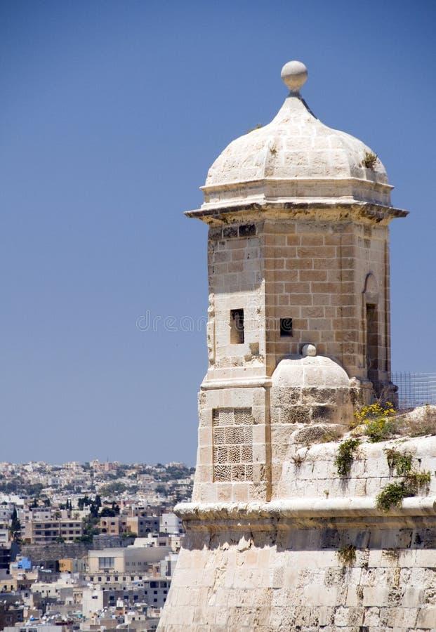 Wachepfosten-Ausblick senglea Malta Valletta lizenzfreies stockfoto