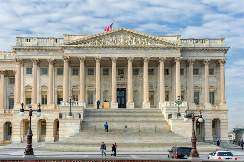 WACHINGTON, D.C. - JANUARY 10, 2014: Building in Washington DC. Palace. stock photo