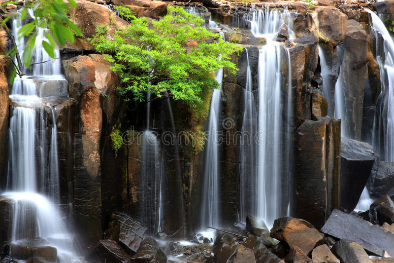 wachirathan瀑布, Inthanon国家公园, Thaila特写镜头  免版税库存照片