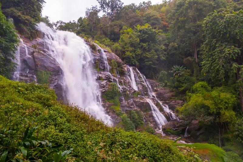 Wachirathan waterfall, Thailand. Wachirathan waterfall, Doi inthanon national park, Thailand royalty free stock photo