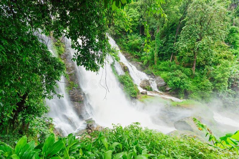 Wachirathan Waterfall in Thailand stock photo