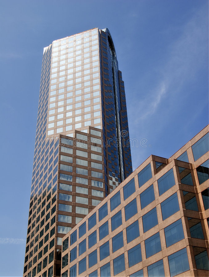 Wachovia Tower in Charlotte stock image