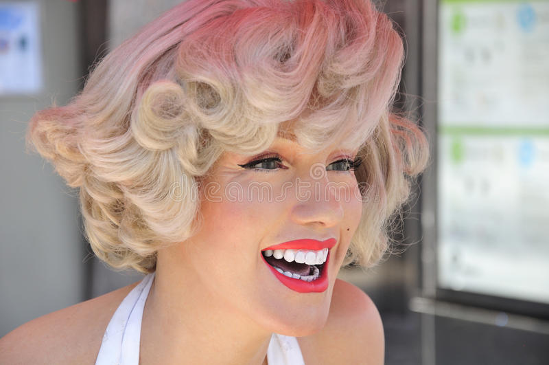 Wachs-Abbildung Marilyn-Monroe stockfotografie