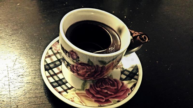 Wachs-Kaffeetasse stockfoto