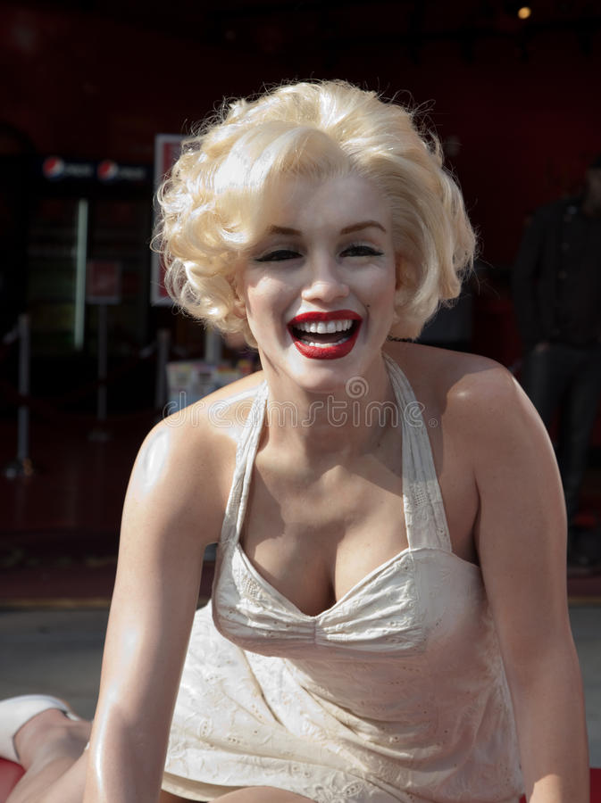 Wachsabbildung von Marilyn Monroe lizenzfreie stockbilder