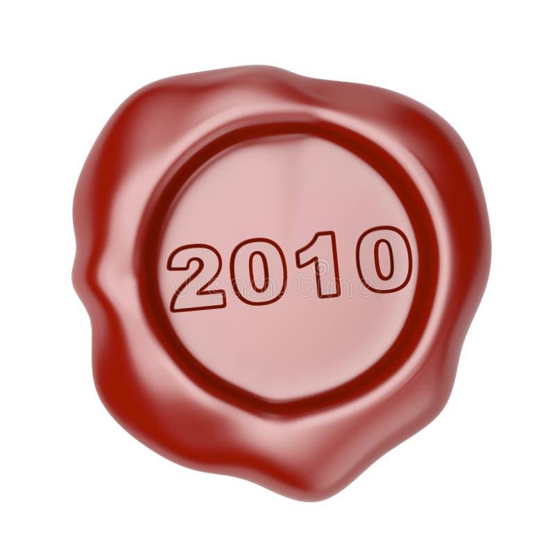 Wachsdichtung mit 2010 stock abbildung