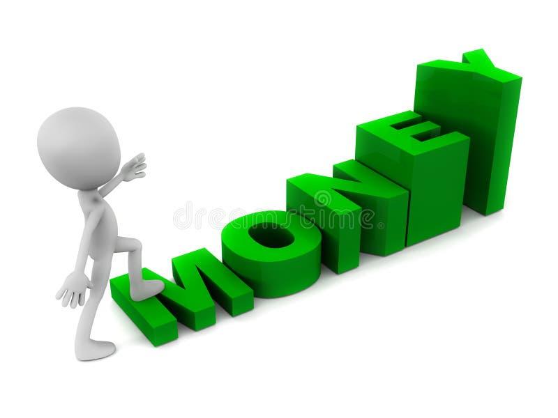 Wachsen Sie Geld lizenzfreie abbildung