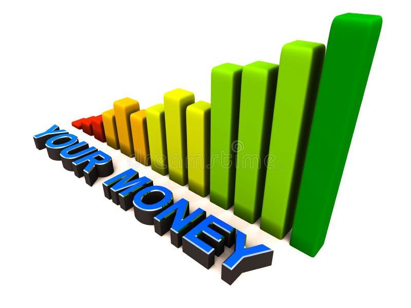 Wachsen Sie Ihr Geld vektor abbildung