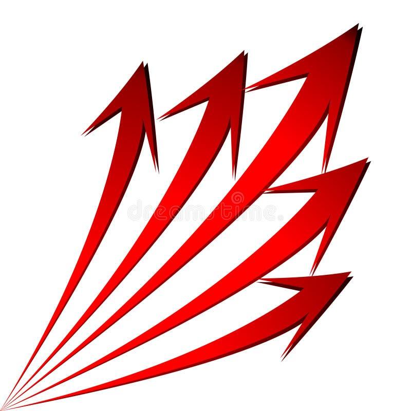 Wachsen Sie Pfeilnotfall-Finanzdiagramm vektor abbildung