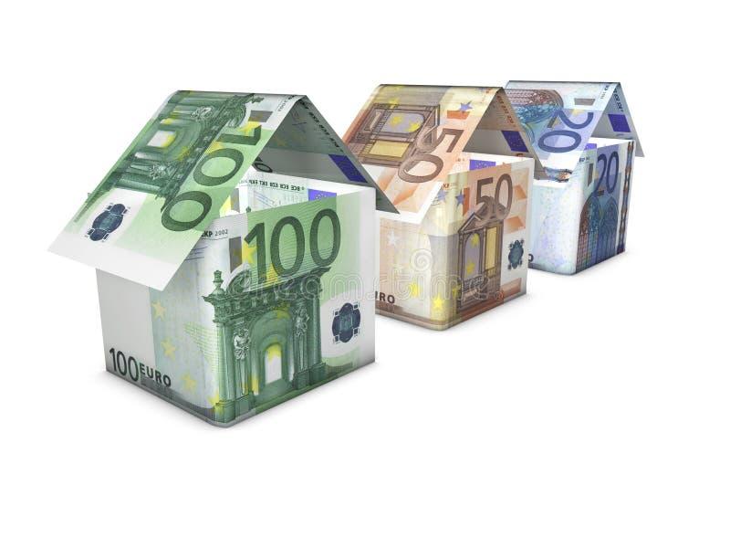 Wachsende Eurohaus-Form lizenzfreie stockbilder