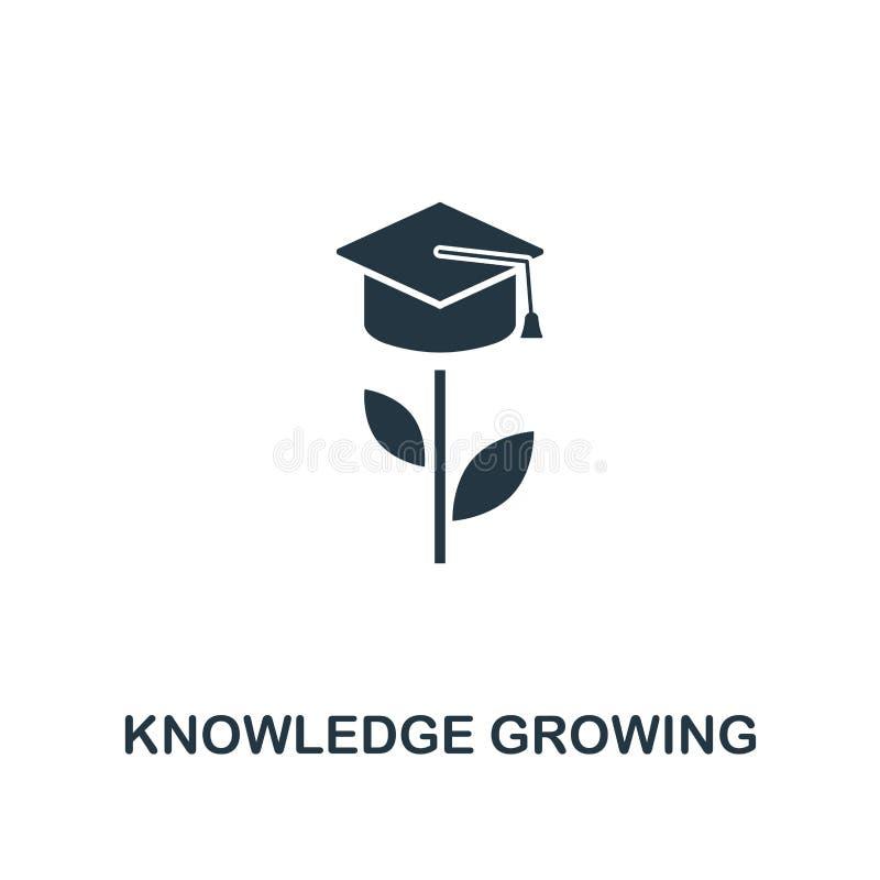 Wachsende Ikone des Wissens Kreativer Elemententwurf von der Produktivitätsikonensammlung Wachsende Ikone des Pixel-perfekten Wis stock abbildung
