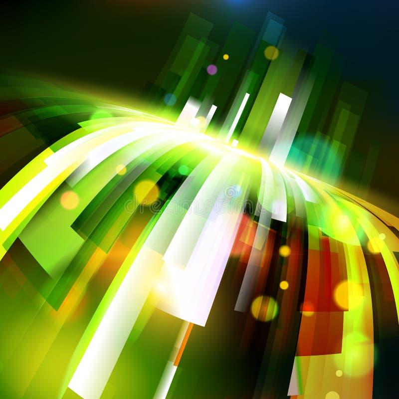 Wachsende Wellenecke der abstrakten Energie stock abbildung