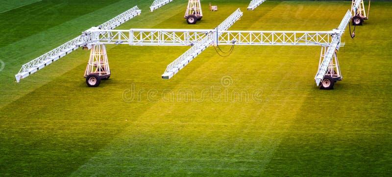 Wachsender Fußballplatz stockfoto