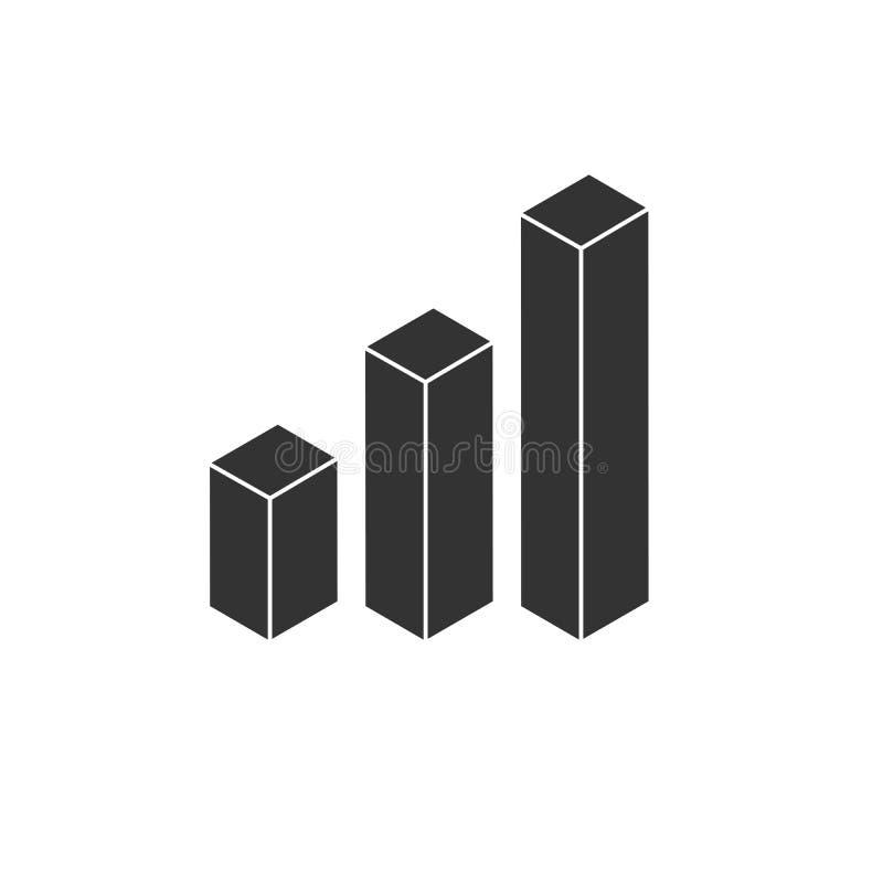 Wachsendes Balkendiagramm der Ikone Gesch?ft Auch im corel abgehobenen Betrag graphik Auf wei?em Hintergrund stock abbildung