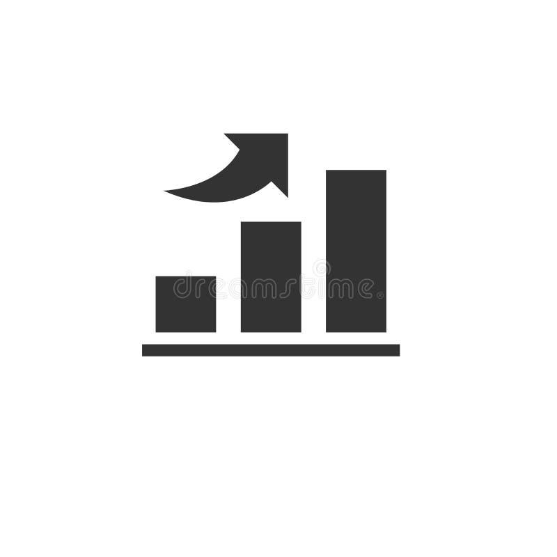 Wachsendes Diagramm der Ikone Gesch?ft Auch im corel abgehobenen Betrag graphik Auf wei?em Hintergrund lizenzfreie abbildung