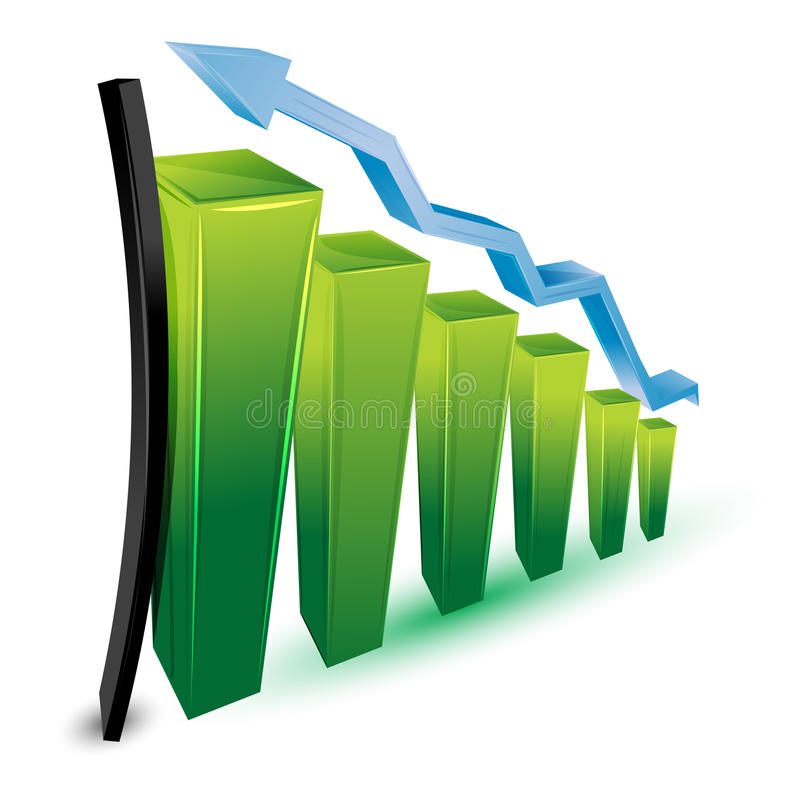 Wachsendes Geschäftsdiagramm vektor abbildung