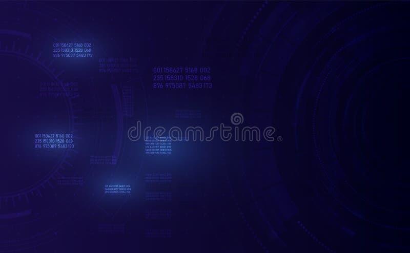Wachsendes globales Netzwerk und Datenverbindungen Technologie, communic stock abbildung
