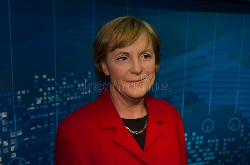 Wachsfigur von Angela Merkel in Madame Tussauds stockfotos