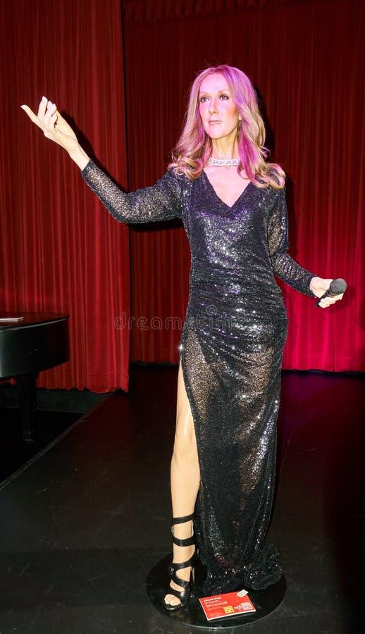 Wachsfigur von Celine Dion lizenzfreies stockbild