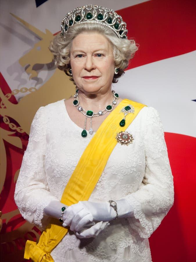 Wachsstatue der Ihre Majestäts-Königin Elizabeth II lizenzfreies stockbild