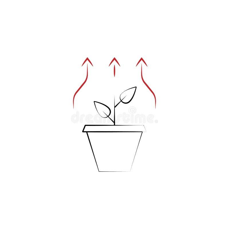 Wachstum benötigt 2 farbige Handgezogene Ikone Illustration des farbigen Elements des Teams Entwurfssymbolentwurf vom Teamarbeits lizenzfreie abbildung