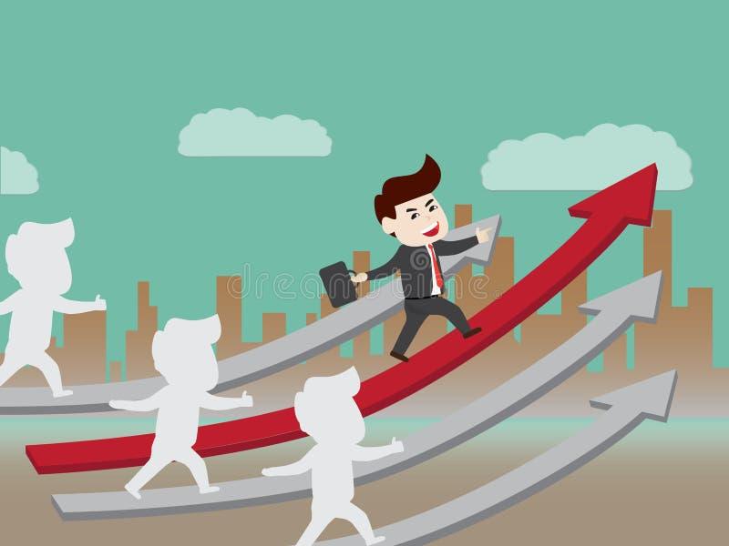 Wachstum des progressiven Geschäfts stock abbildung