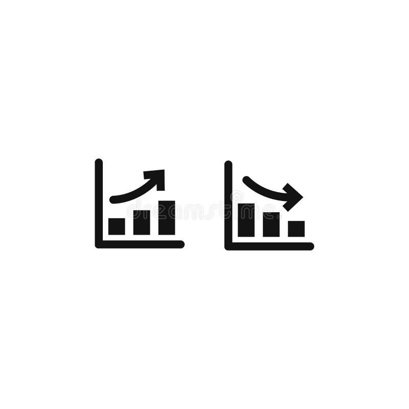 Wachstum hoch und Wachstum unten Vektorabbildung auf wei?em Hintergrund vektor abbildung
