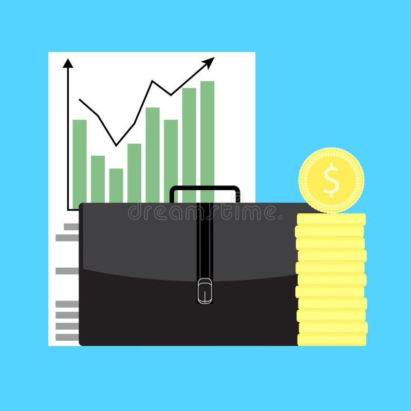 Wachstum von Geschäftskapital stock abbildung