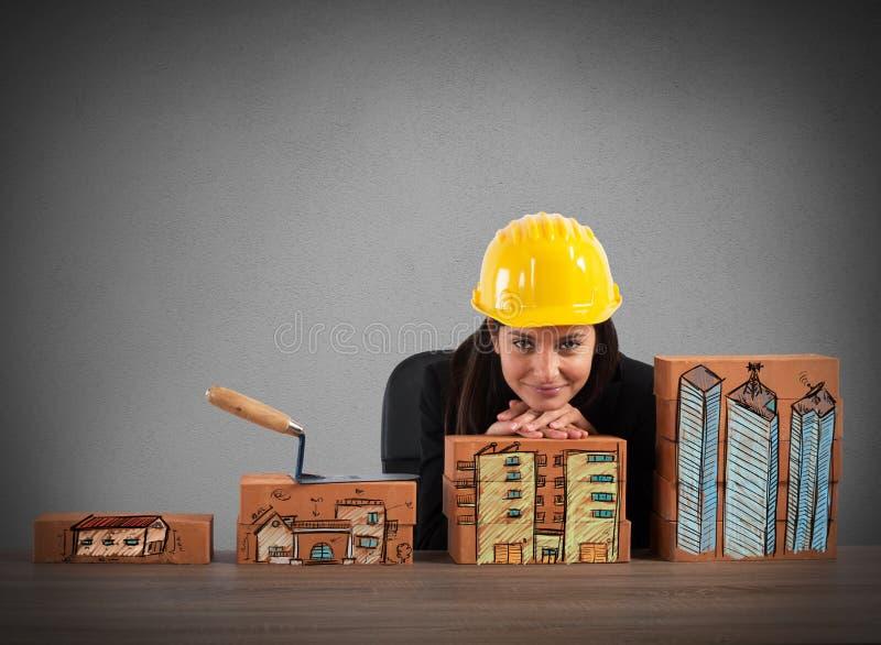 Wachstum von Wohneigenschaften stockfotos