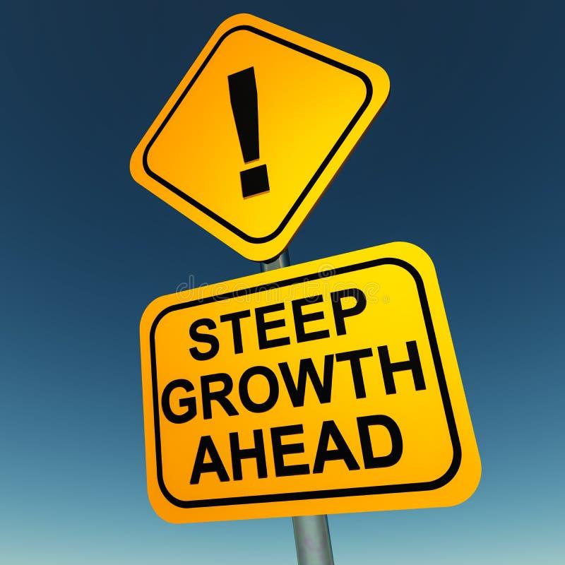 Wachstum voran lizenzfreie abbildung