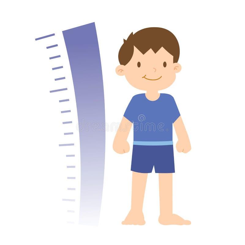Wachstums-Fortschritt von Little Boy stock abbildung