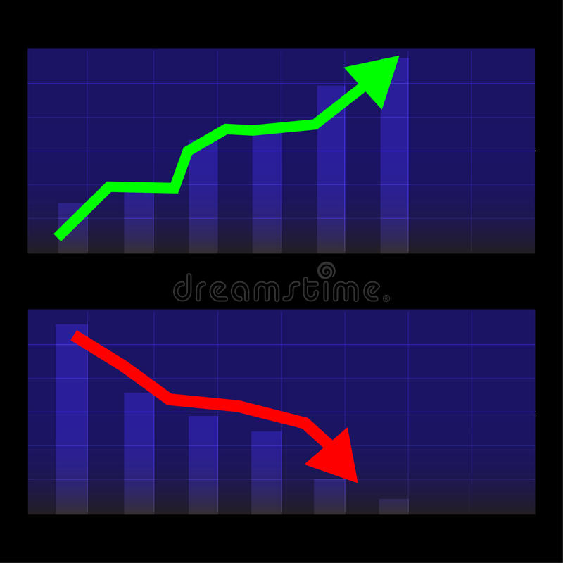 Wachstums-Investitionsdiagramm-Vektor-Finanzgeschäft stockfotografie