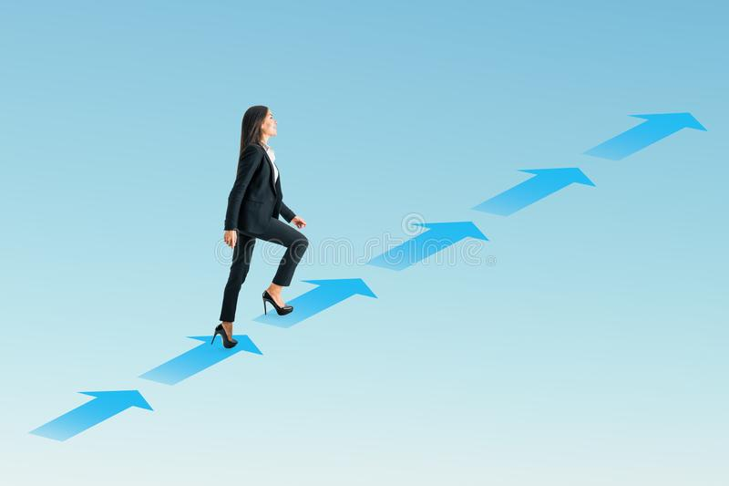 Wachstums- und Erfolgskonzept stockfoto
