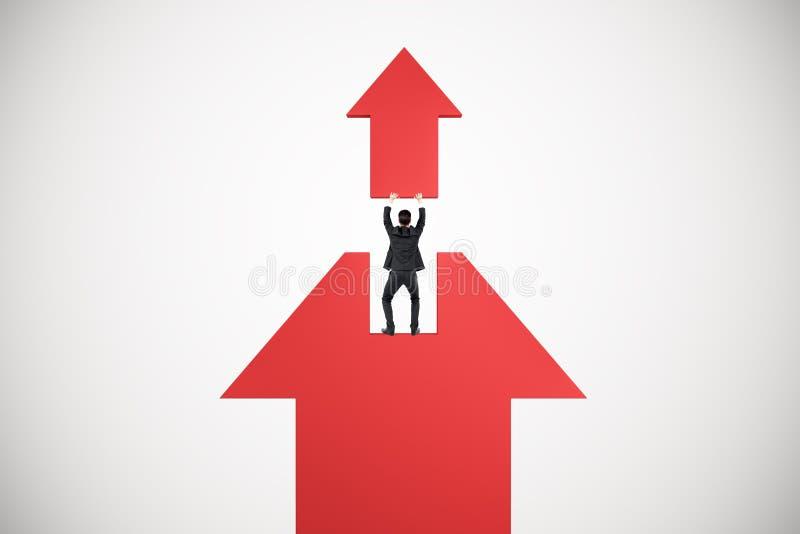 Wachstums- und Erfolgskonzept vektor abbildung