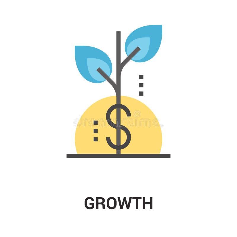 Wachstumsikonenkonzept vektor abbildung