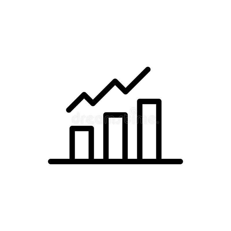 Wachstumslinie Ikone stock abbildung