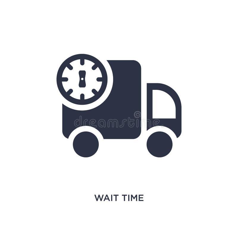 wacht tijdpictogram op witte achtergrond Eenvoudige elementenillustratie van verpakking en leveringsconcept stock illustratie