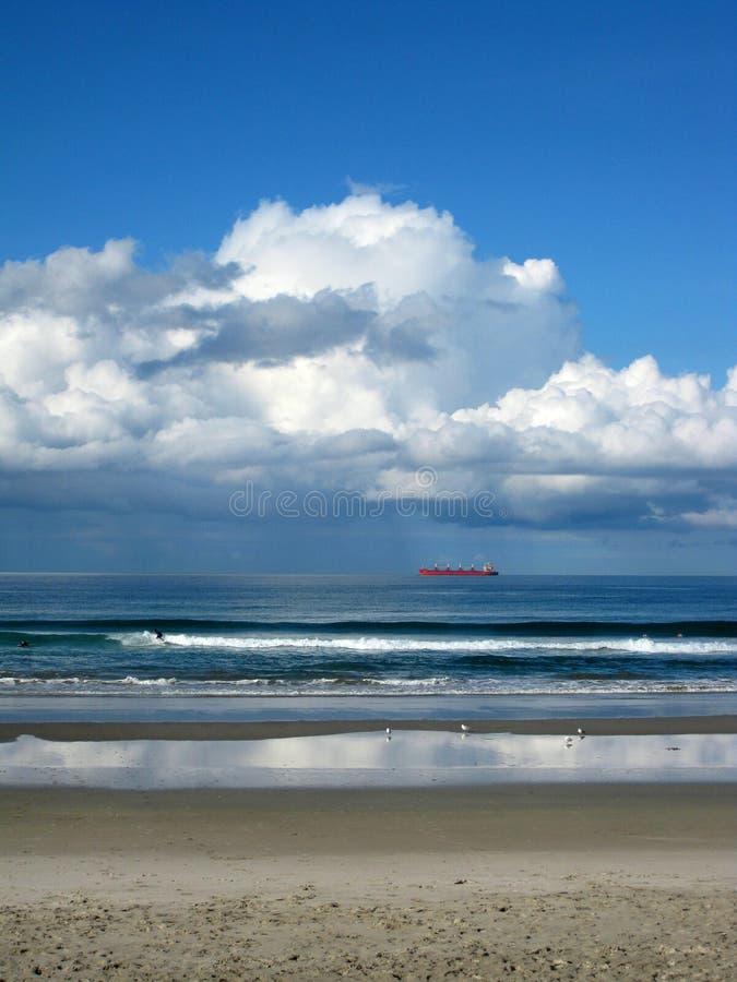 Wachtend van het strand, Tauranga royalty-vrije stock foto