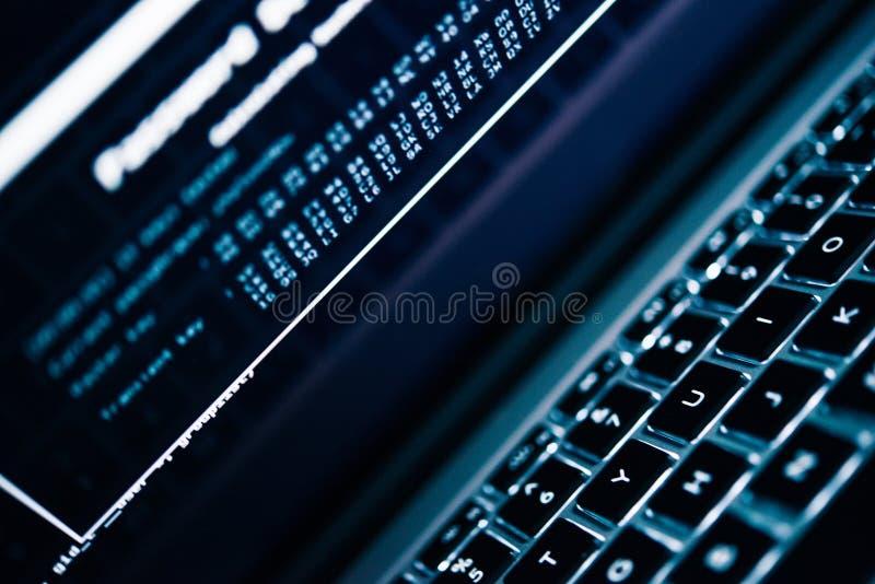 Wachtwoord het Binnendringen in een beveiligd computersysteem Concept stock foto