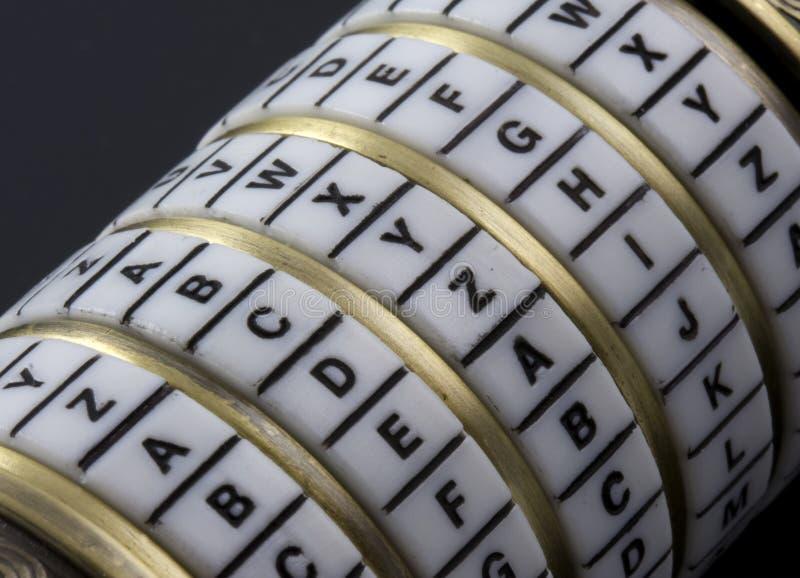 Wachtwoord of sleutelwoord - de doos van het combinatieraadsel stock afbeeldingen