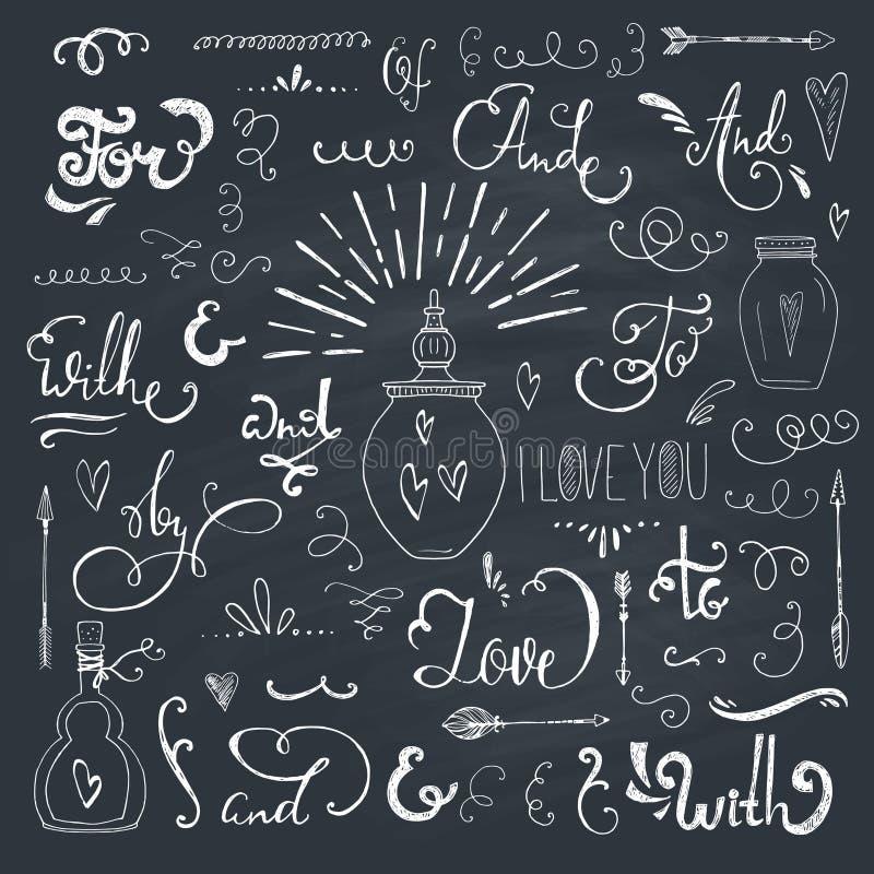 Wachtwoorden en ampersands stock illustratie