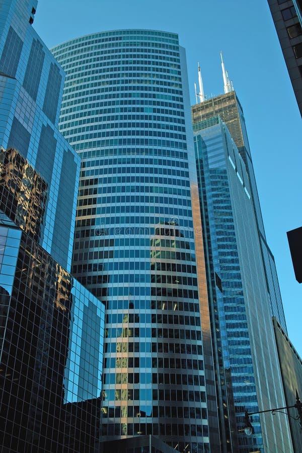 Wacker ulica, wczesny poranek, Chicago obrazy stock