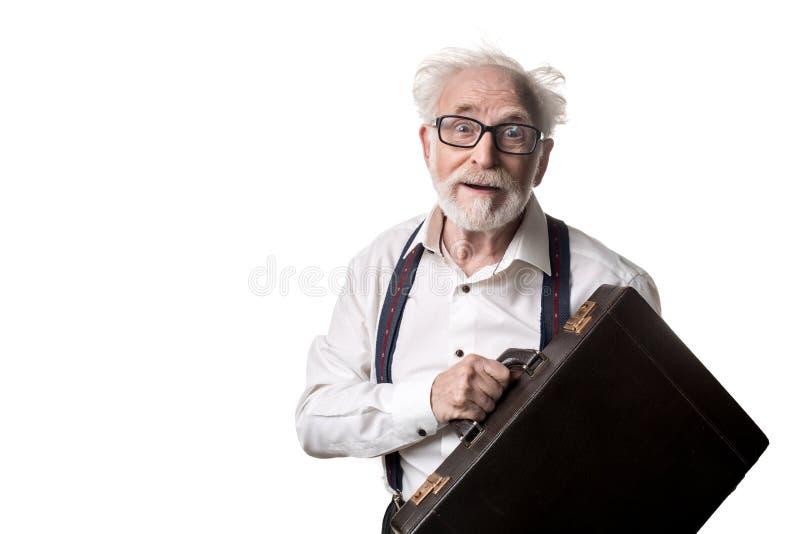 Wacky mature man looking surprised royalty free stock image