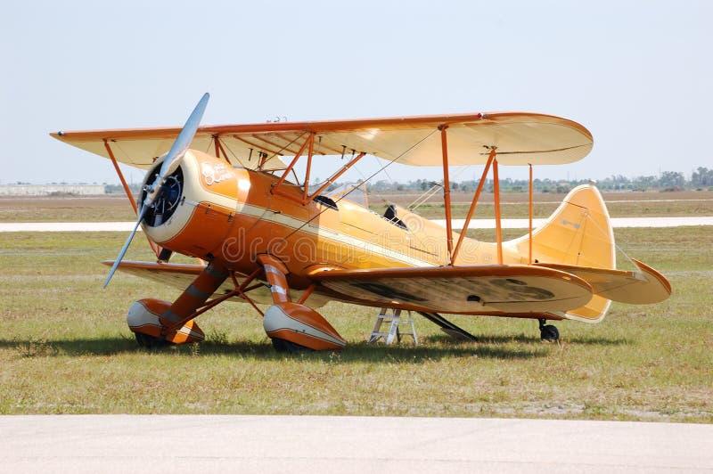 Waco Biplane. A Waco UPF7 biplane in Charlotte in Punta Gorda Florida royalty free stock photo