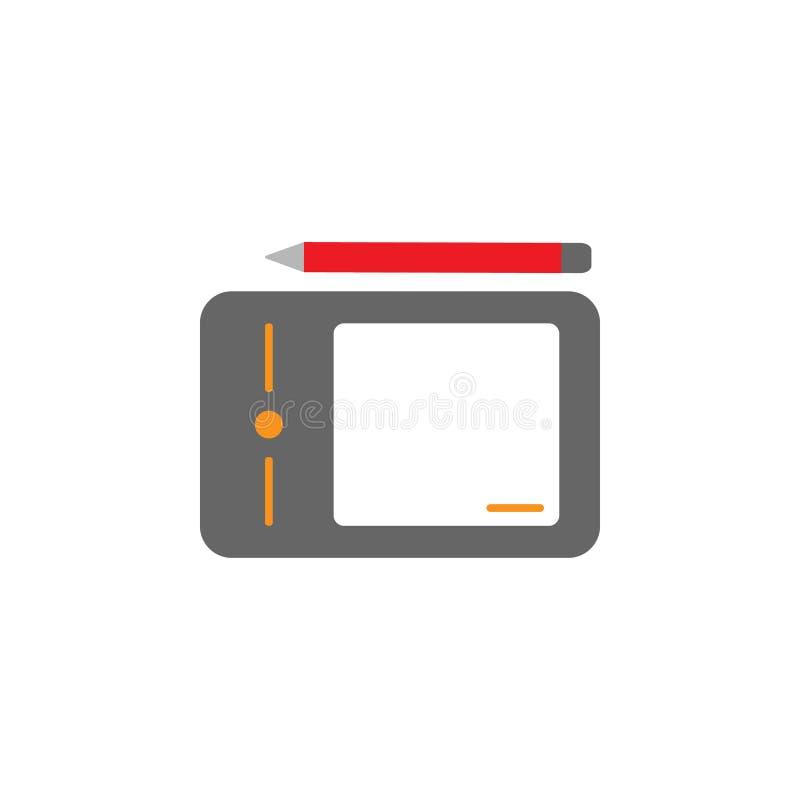 Wacom, cyfrowa ikona Element sieci Desing ikona dla mobilnych pojęcia i sieci apps Szczegółowy Wacom, cyfrowa ikona może używać d ilustracja wektor